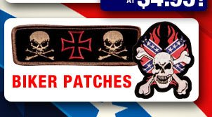 NEW! Biker Patches!