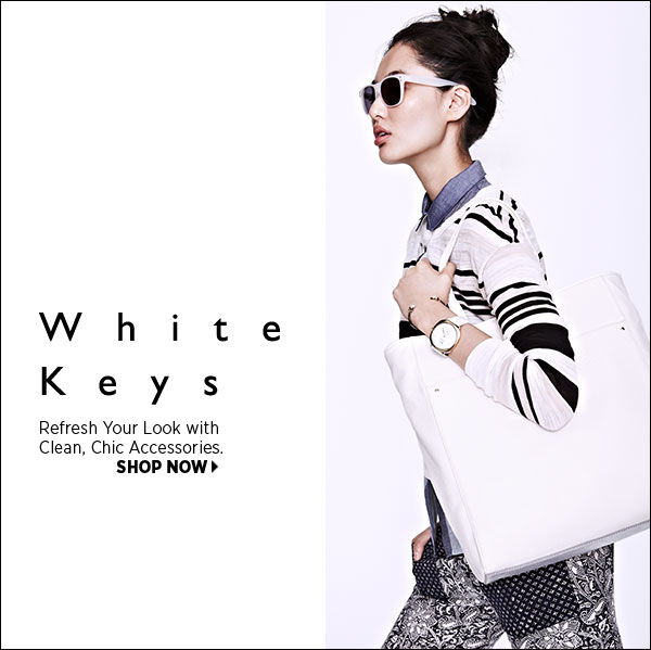 Refresh your look with our edit of white accessories. Shop now >>