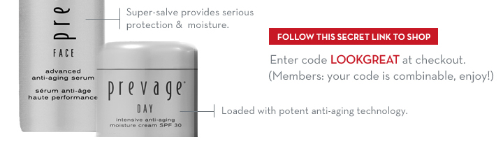FOLLOW THIS SECRET LINK TO SHOP. Enter code LOOKGREAT at checkout. (Members: your code is combinable, enjoy!)