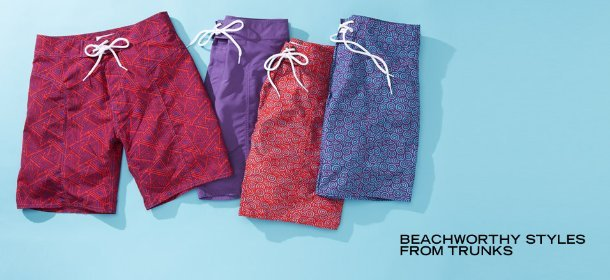 BEACHWORTHY STYLES FROM TRUNKS, Event Ends May 31, 9:00 AM PT >
