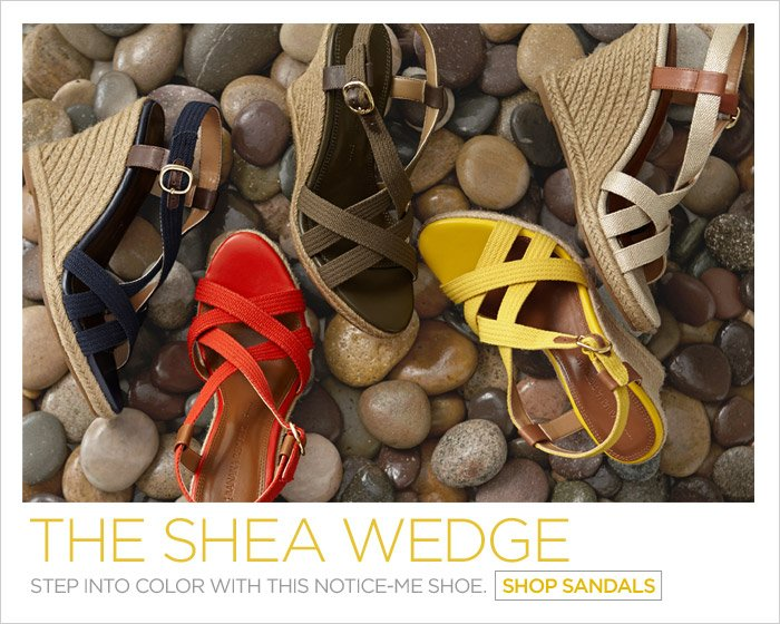 THE SHEA WEDGE | STEP INTO COLOR WITH THIS NOTICE-ME SHOE.  SHOP SANDALS
