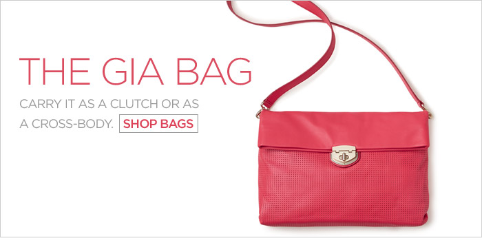 THE GIA BAG | CARRY IT AS A CLUTCH OR AS A CROSS-BODY. SHOP BAGS