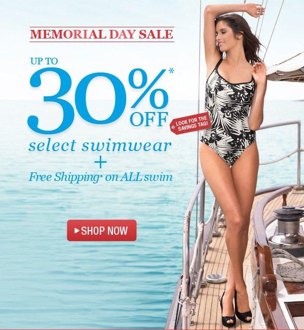 30% Off Swim + Free Shipping