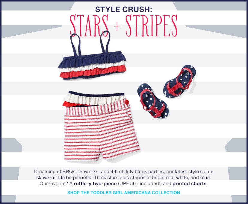 STYLE CRUSH: STARS + STRIPES | SHOP THE TODDLER GIRL AMERICANA COLLECTION