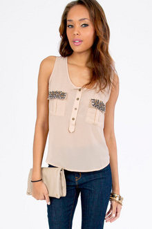JEWEL TAB TANK TOP 32