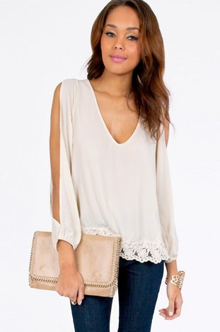TRIMMED AVENUES BLOUSE 36