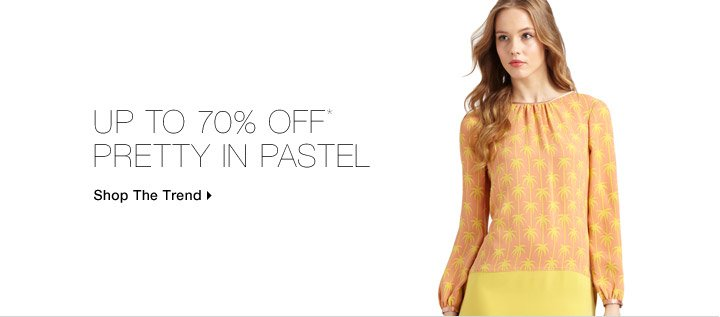 Up To 70% Off* Pretty In Pastel