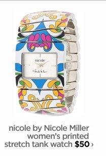 nicole by Nicole Miller women's printed stretch tank watch $50 ›