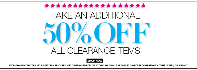 Take an Additional 50% Off All Clearance Items