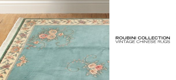 ROUBINI COLLECTION: VINTAGE CHINESE RUGS, Event Ends May 30, 9:00 AM PT >