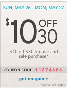 $10 of $30. Get coupon.