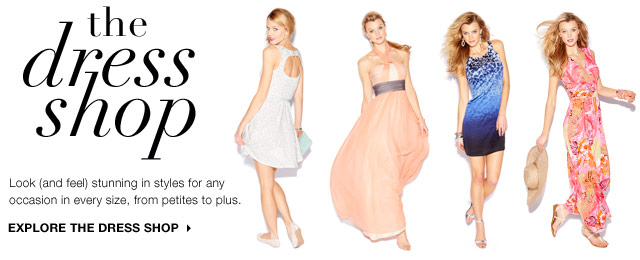 The Dress Shop: Look (and feel) stunning in styles for any occasion in every size, from petites to plus.. Explore the dress shop