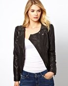 Vila Studded Leather Jacket
