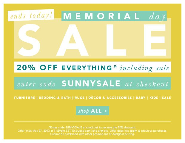 Memorial Day Sale Ends Today!