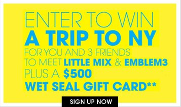 Sign Up For A Chance To Meet Little Mix and Emblem 3