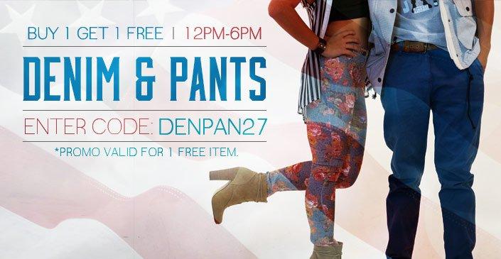 Denim & Pants: Buy 1, Get 1 Free