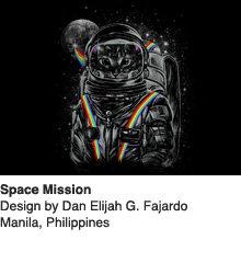 Space Mission - Design by Dan Elijah G. Fajardo / Manila, Philippines