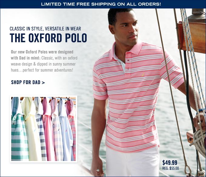 Classic in style, versatile in wear. The Oxford Polo. Shop for Dad.