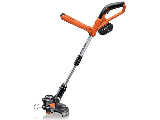 WORX WG165 10 inch Cordless Grass Trimmer & Edger w/ 24V Lithium Ion Battery  Telescoping Head & Adjusting Handle
