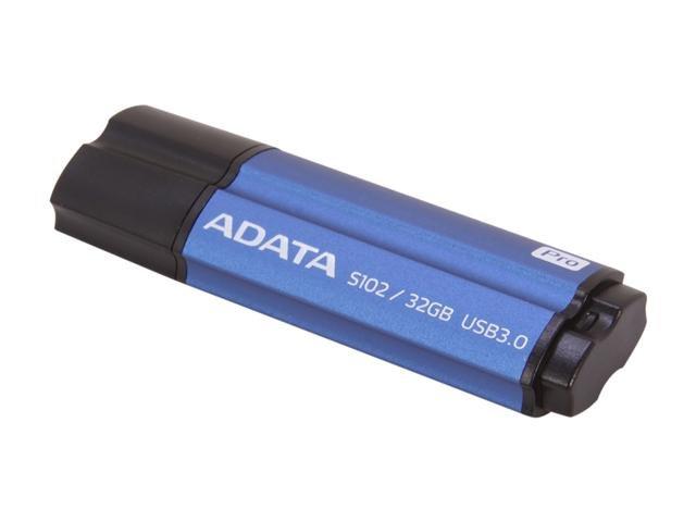 ADATA Value-Driven S102 Pro Effortless Upgrade 32GB USB 3.0 Flash Drive Model AS102P-32G-RBL