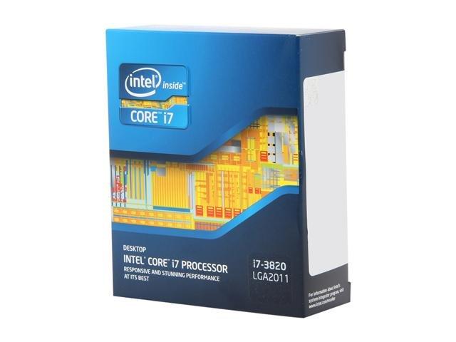 Intel Core i7-3820 Sandy Bridge-E 3.6GHz (3.8GHz Turbo Boost) LGA 2011 130W Quad-Core Desktop Processor BX80619i73820