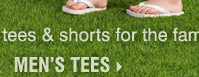 Up to 40% off tees and shorts for the family. Shop men's tees.