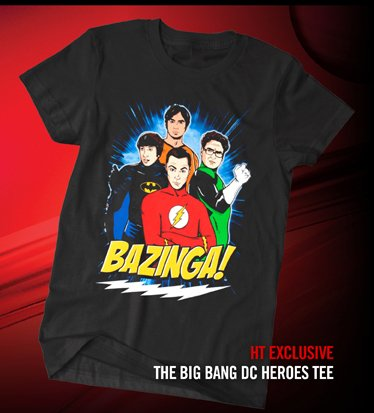 HT EXCLUSIVE - THE BIG BANG DC HEROES TEE