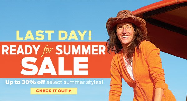 Last Day For Sale! Up To 30% Off Select Styles ›