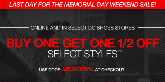 Final Day for the Memorial Day Weekend Sale!