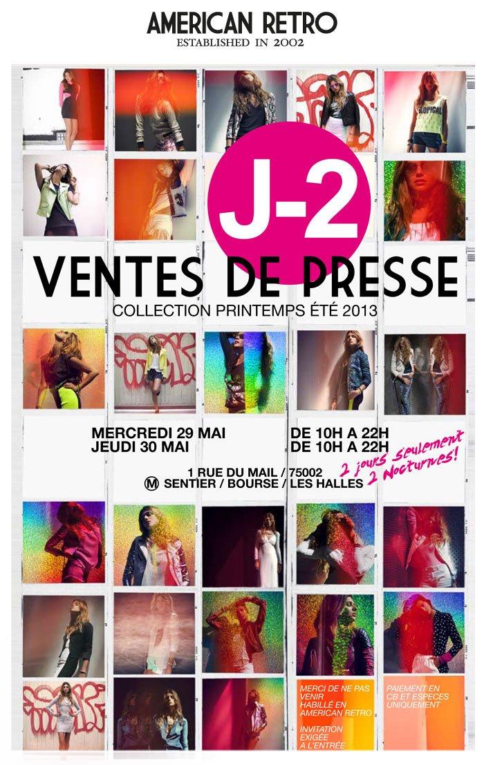 American Retro  Vente Presse J-2