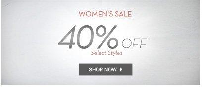 Women's Sale - 40% Off Select Styles - Shop Now