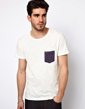 Farah Vintage T-Shirt with Contrast Pocket