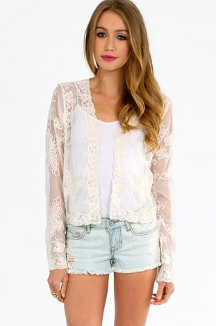 BUTTERFLY LACE CARDIGAN 25