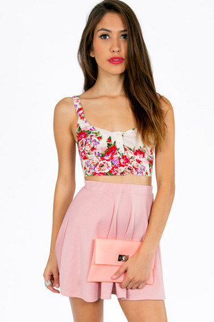 MIRA BUTTON FLORAL CROP TOP 30