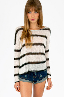 STRIPING KNIT UP SWEATER 25