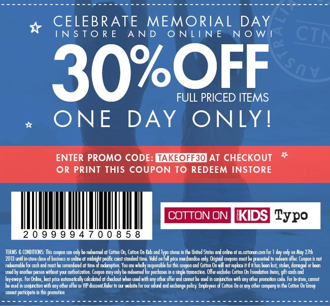 Celebrate Memorial Day with 30% off!