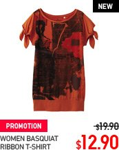 WOMEN BASQUIAT RIBBON T-SHIRT