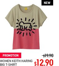 WOMEN KEITH HARING BIG T-SHIRT