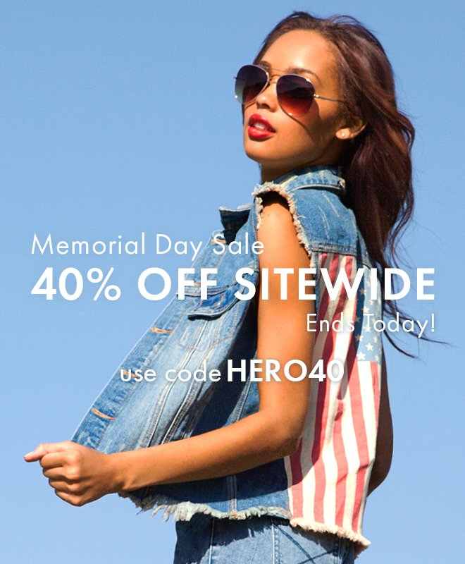 Memorial Day Sale - 40% Off Sitewide