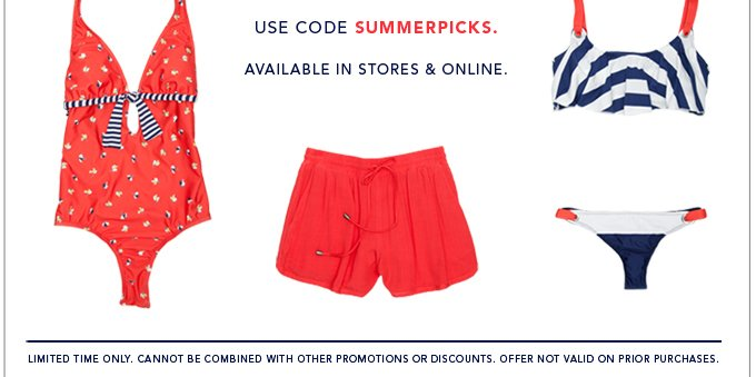 Use Code SUMMERPICKS