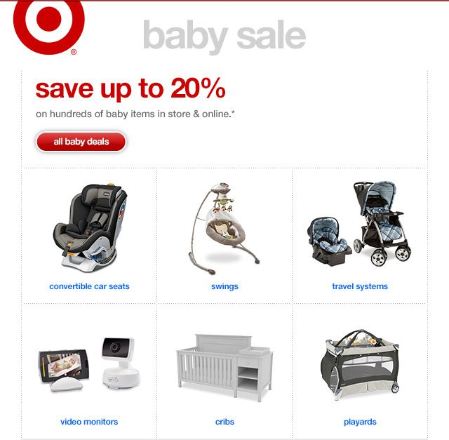 SAVE UP TO 20% On hundreds of baby items in store & online.*
