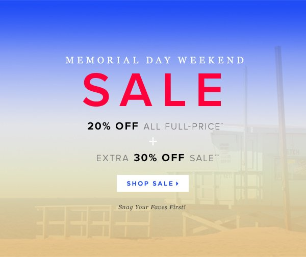 Take 20-65% Off Sitewide During Our Memorial Day Sale!        Shop Sale