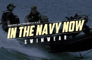 In The Navy Now: Swimwear