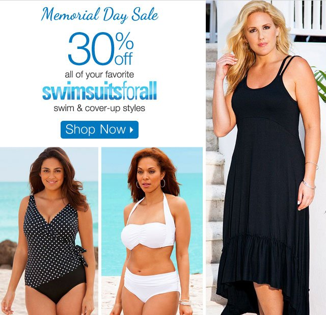 30% off all your favorite swimsuits for all