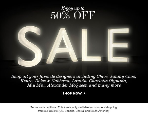 Enjoy up to 50% OFF - SALE. SHOP NOW