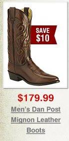 Dan Post Mignon Leather Cowboy Boots