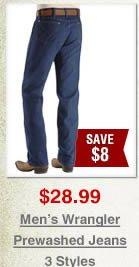 Men's Wrangler Prewashed Jeans