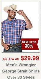 Men's Wrangler George Strait Shirts