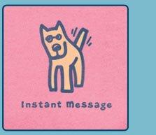 Women's Crusher Tee Instant Message Rocket