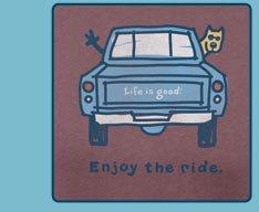 Men's Crusher Tees Enjoy The Ride Pickup Truck